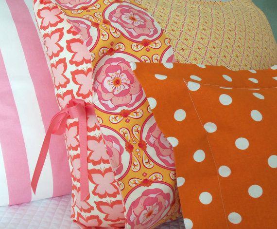gatehouse lane Etsy shop, pink, yellow  & orange for girls room