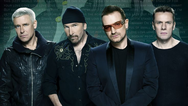 U2:  An Irish rock band from Dublin, Ireland!