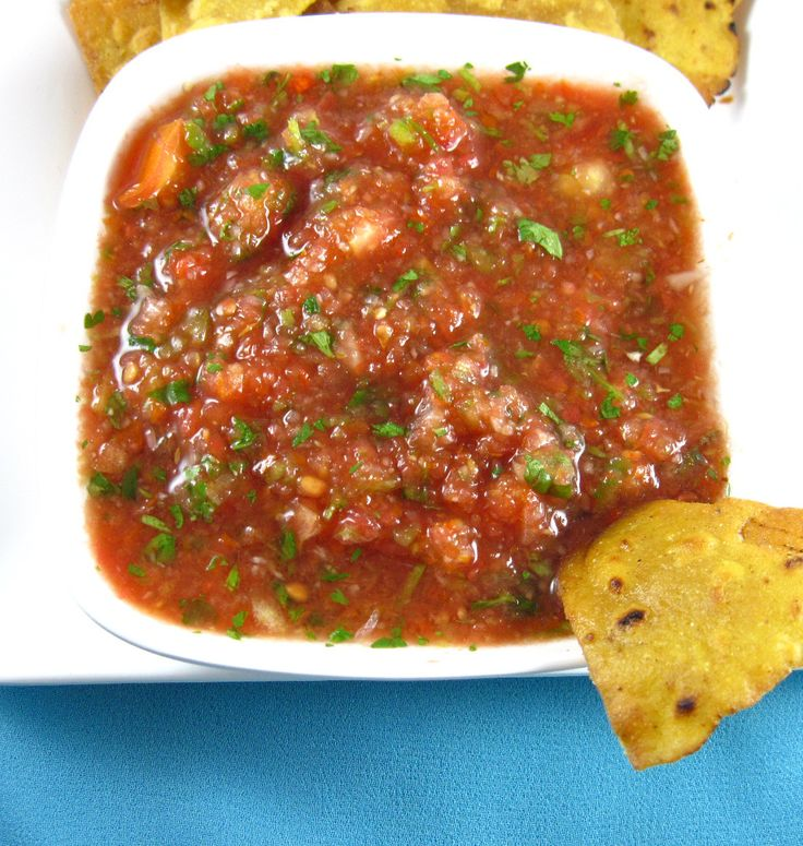 Homemade Mexican Salsa - all natural with no additives #salsa #recipe