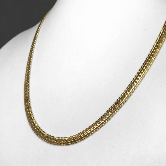 18K White Gold Filled Cable Link Necklace N-199