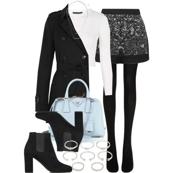 Style #9740 by vany-alvarado on Polyvore featuring polyvore, fashion, style, Topshop, Burberry, Wolford, Yves Saint Laurent, Prada, Forever 21 and H&M