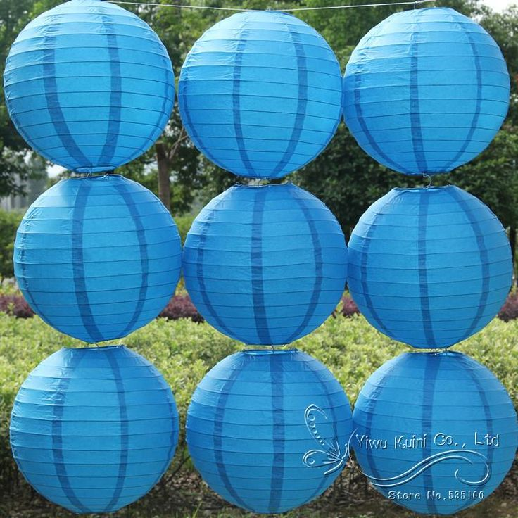 Deep /Royal Blue 1Pcs 8''(20Cm) Round Paper Lantern Round Paper Lantern For Wedding Party Decorations