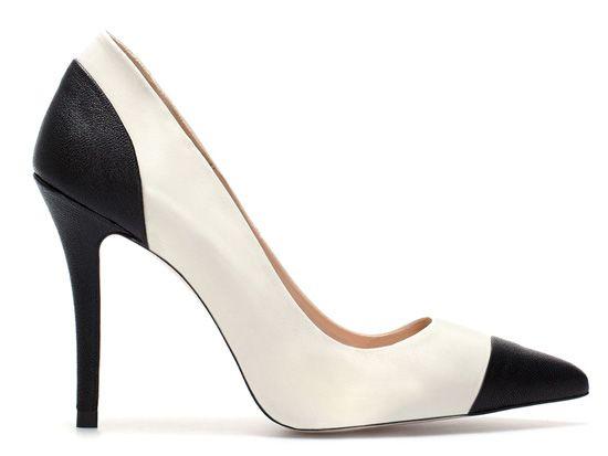 zara shoes 2013   Zara two-tone black and white court shoes >> Shoeperwoman