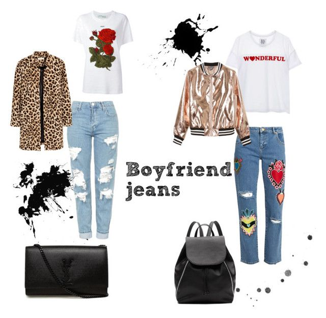 Boyfriend jeans by larissavanderzijdenxo on Polyvore featuring mode, Zoe Karssen, Off-White, Sans Souci, House of Holland, Topshop, Witchery and Yves Saint Laurent