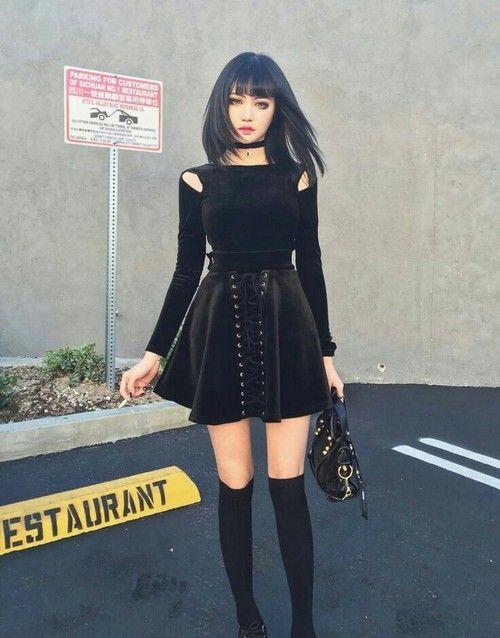 black, girl, and goth Bild