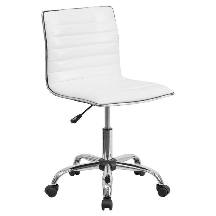 Flash furniture lowback armless ribbed designer swivel