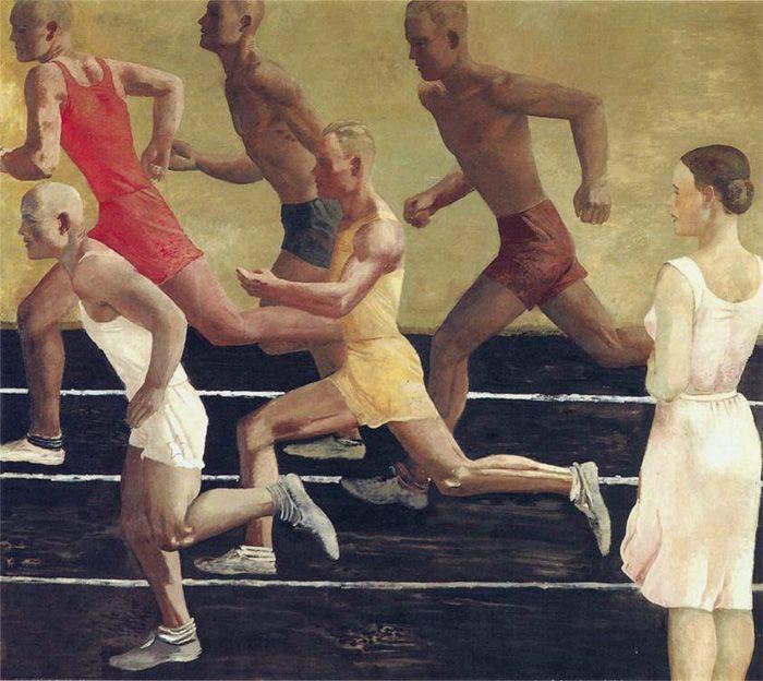 Художник Александр Дейнека. Живопись. Бегуны. 1934