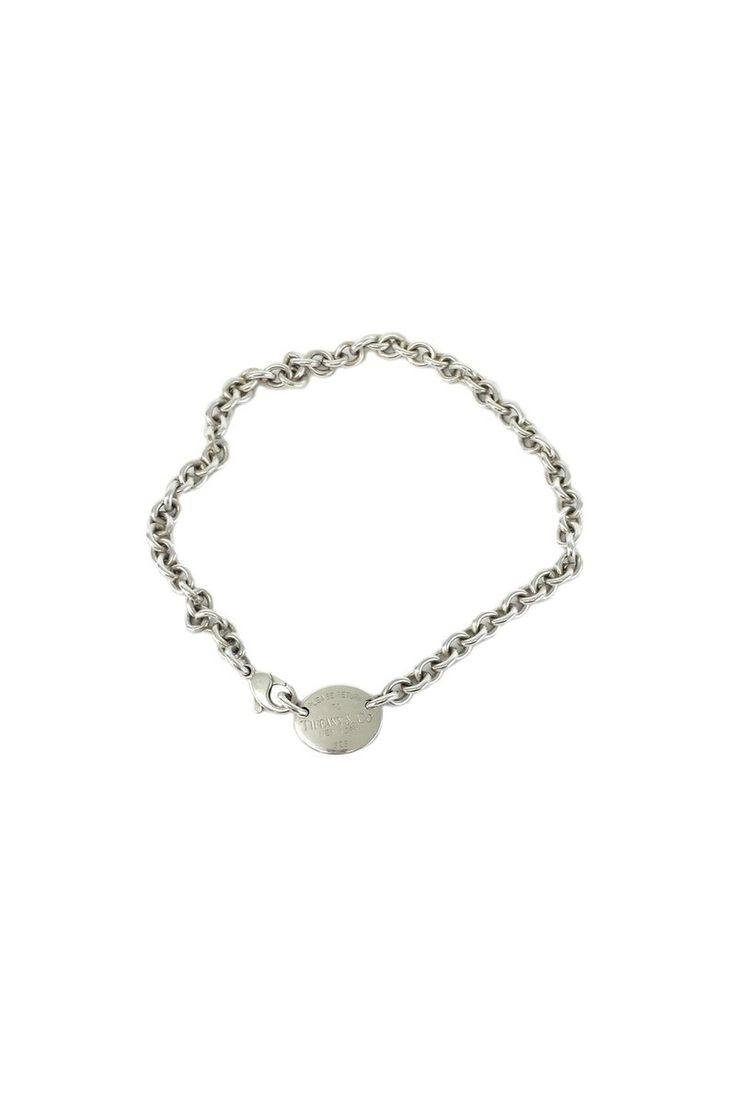 Tiffany & Co.- Oval 'Return to Tiffany' Silver Necklace | Current Boutique