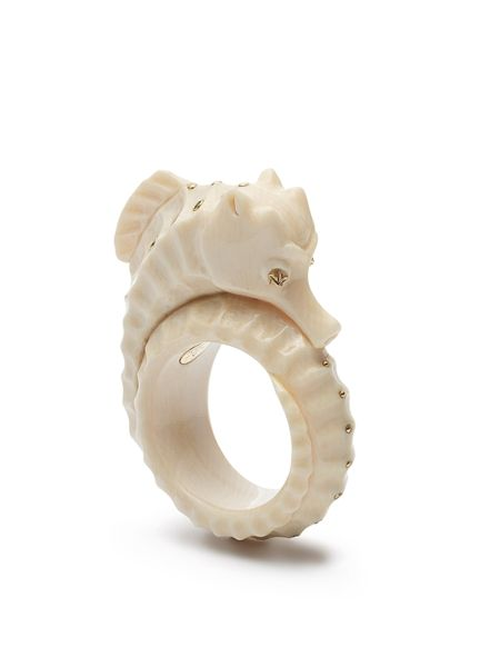 Bibi van der Velden mammoth tusk seahorse ring