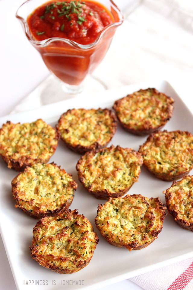 """These zucchini bites are quick and simple to make. They're a great snack for picky kids who will happily munch on """"zucchini tots."""" Serve with marinara sauce for dipping. Delicious lunch, dinner side dish or appetizer. You really can't go wrong with these!"""