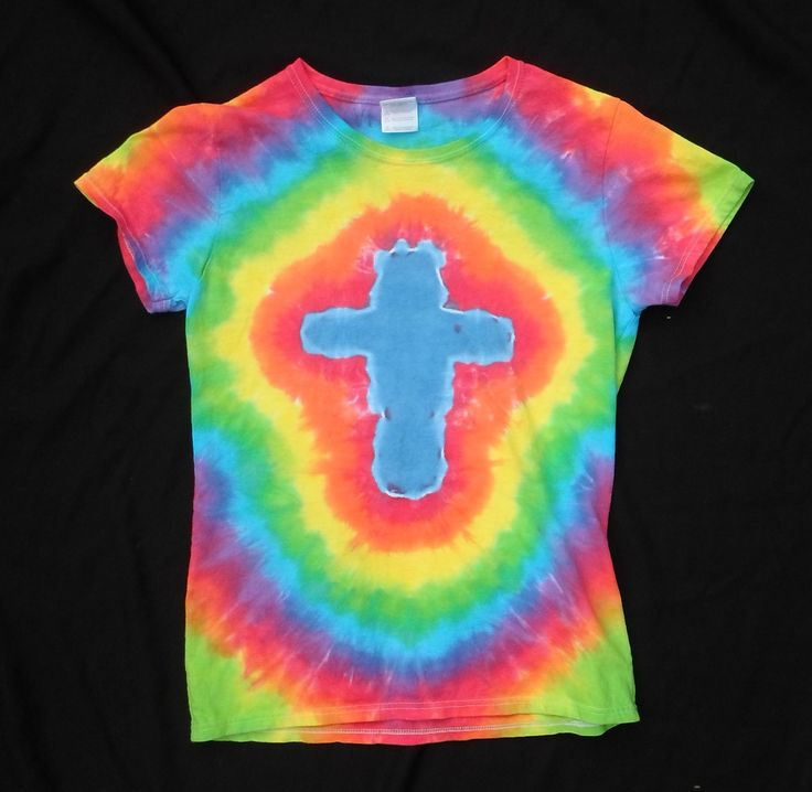 How To Tie Dye A Cross Design