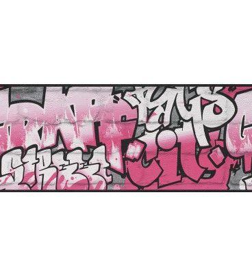 CENEFA INFANTIL KIDS CLUB RASCH C-237917. ¡A 20.12 EUROS! Una cenefa infantil con graffitis muy moderna y original. Disponible en diferentes colores para elegir cual combina mejor con la habitación de su hijo. Disponible en otros colores.