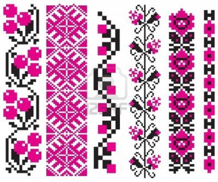 SMALL PATTERNS - Ornament used in Ukrainian folk crafts, embroidery and painting.