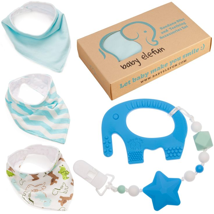The 25 best 6 month old gifts ideas on pinterest baby christmas easter gifts for boys unique matching set of teether pacifier clip blue elephant teething negle Images