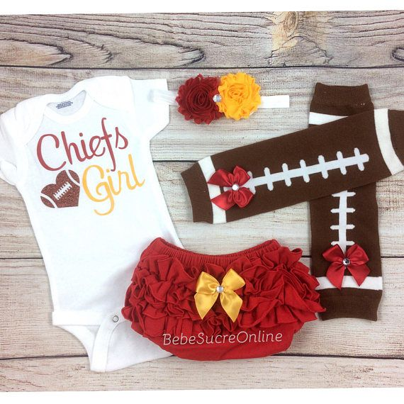 online store d3b9f d5e92 Chiefs Girl, Baby Football Outfit, Kansas City Chiefs Baby ...
