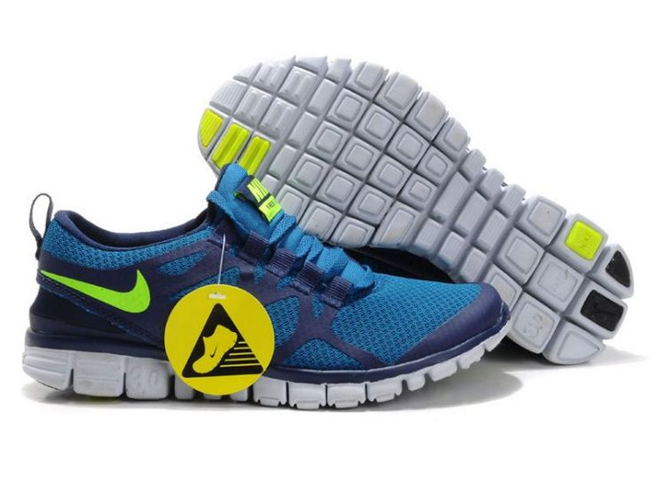 6AtPy Nike Free 3.0 V3 Men's Running Shoes Royal/Dark Blue-Volt