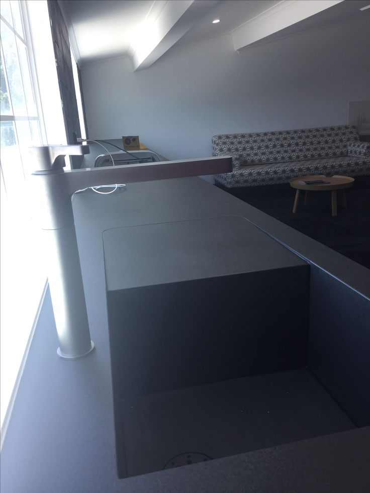 Calce Nero 1620x3240x12mm kitchen bench top and matching sink for a seamless look