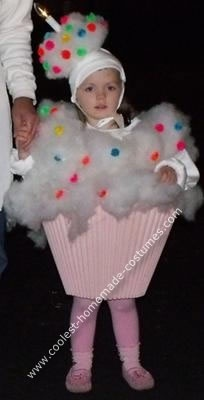 Homemade Cup Cake Halloween Costume. That candle really sets it off!