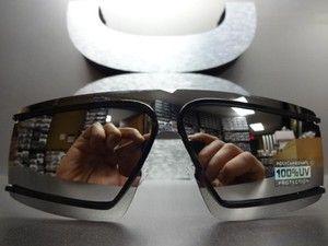 Robot Costume Party Rave Cyclops Futuristic Shield Black SUN Glasses Mirror Lens | eBay