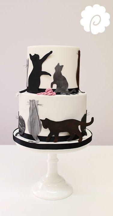 Best 25 Cat Cakes Ideas On Pinterest Cat Birthday Cakes