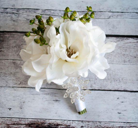 Magnolia Wedding Bouquet - Silk Wedding Bouquet