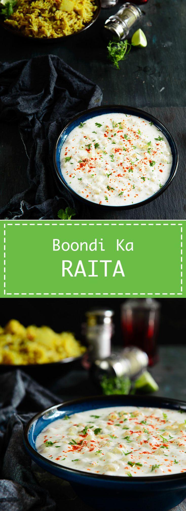 Boondi Ka Raita A simple and delicious accompaniment to enjoy with Indian food. #recipe #Indian #Raita