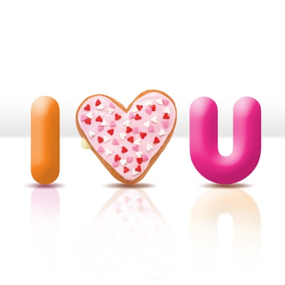 Dunkin donut valentine i love you