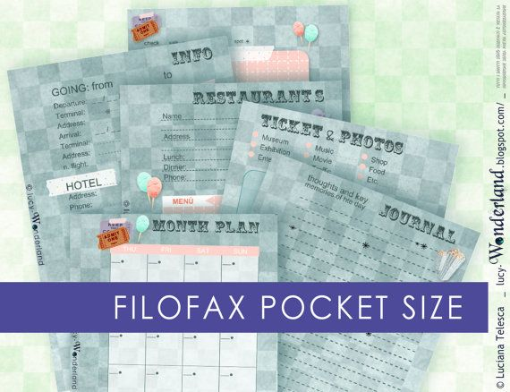diario di viaggio per la tua filofax pocket #month #planner #agenda #filofax #printable #diy #travel #journal #trip #organiser #travelplanner #traveljournal