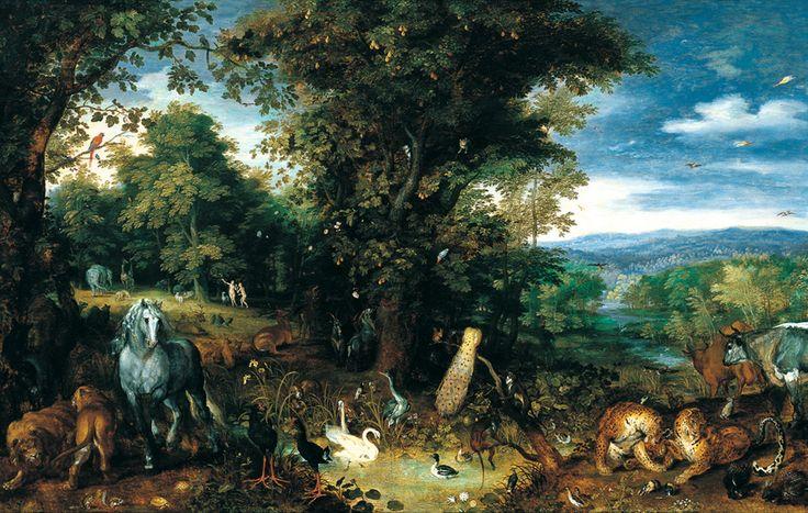 Jan Brueghel el Viejo El Jardín del Edén c. 1610-1612