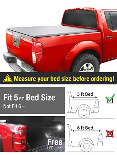 Premium TriFold Tonneau Truck Bed Cover For 05-15 Nissan Frontier 5 feet (with/without utility track); 09-12 Suzuki Equator 5 feet (60 inch) Trifold Truck Cargo Bed Tonno Cover (NOT For Stepside)