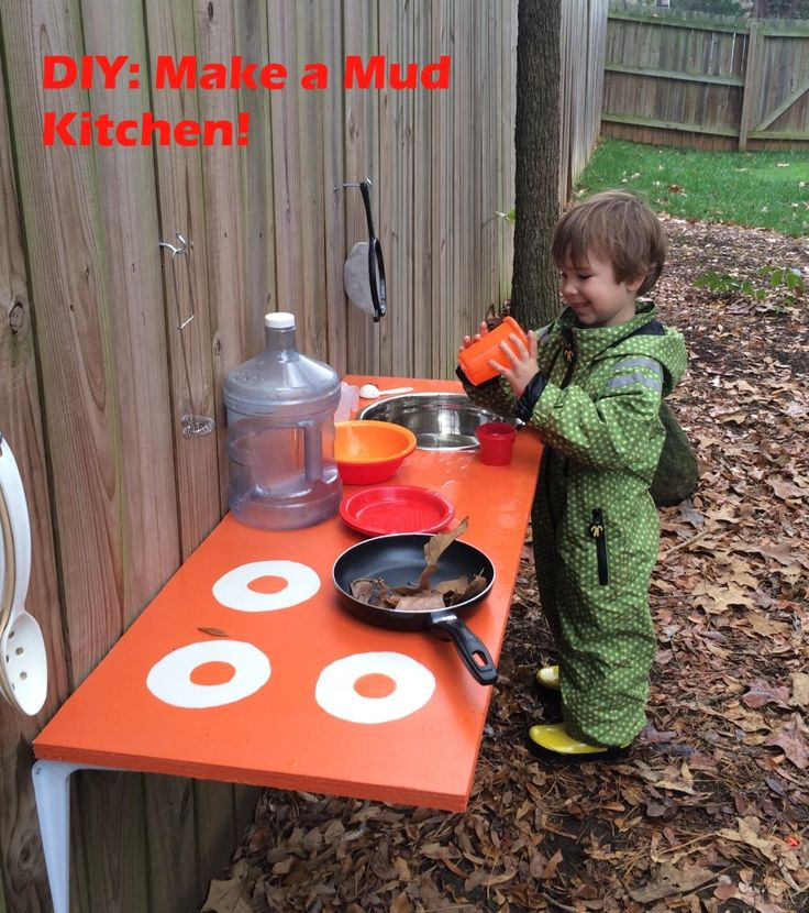 Looking for a cool spring project to do w/the kiddos? How about a mud kitchen? Step by step instructions :)  AND - easy clean-up afterwards (and protection for their clothes) courtesy of DucKsday ;)   -DIY Backyard Adventures: Let's Make A Mud Kitchen! | Cragmama