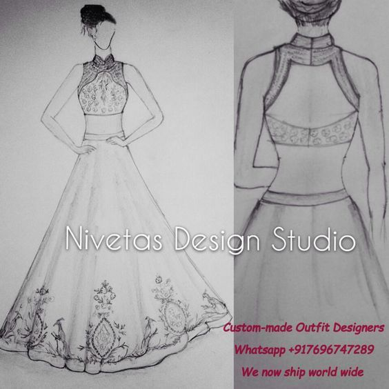 bridal lehenga whatsapp +917696747289 our team will take you through the simple process of getting measured from your home.Bridal lehenga -bridal – Lehenga – wedding party lehengas – lehengas – Party wear lehenga-lehengas – new lehenga – custom made bridal lehenga – Bridal Lehenga Sketchs - Sketchs