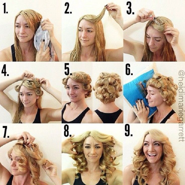 Very easy curly hairstyle