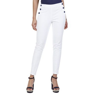 Nautica Denim Sailor Ankle Pant - Bright White #vermontfashion