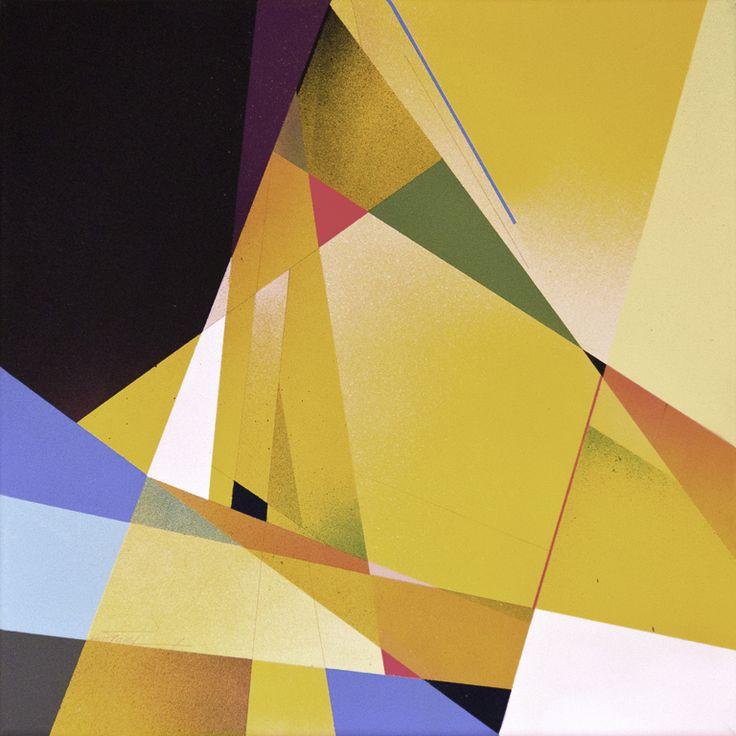 Transparent Apparent - 2014  Spray paint and graphite on canvas  40cm x 40cm