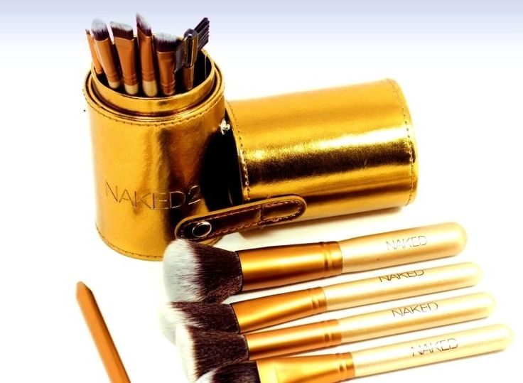 Makeup Brushes Set With Limited Edition Gold Box (12 PCS)
