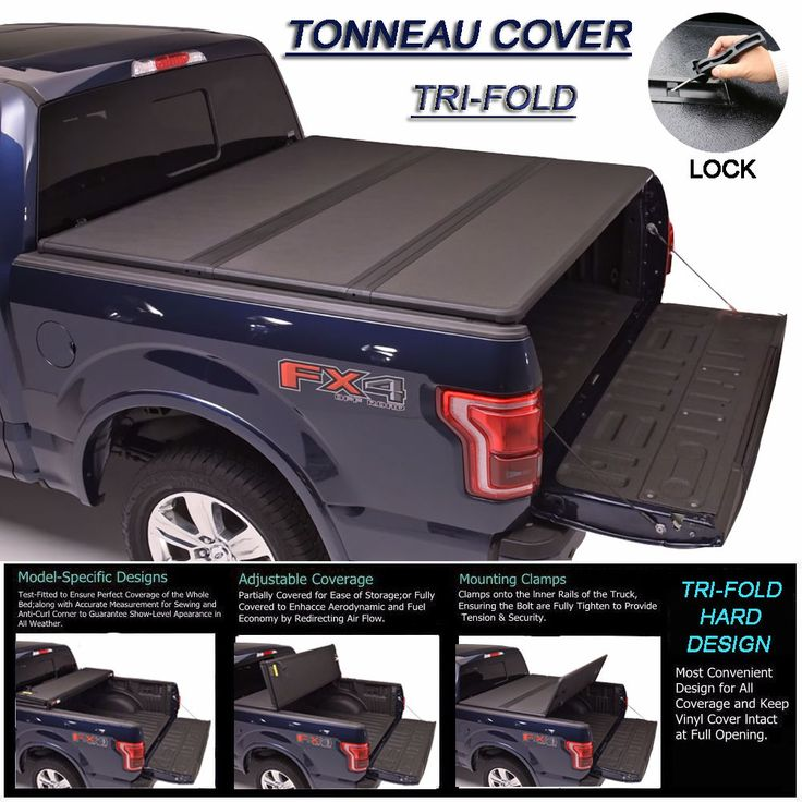 """Awesome Awesome Fit 2007-2017 TOYOTA TUNDRA Lock Hard Solid Tri-Fold Tonneau Cover 6.5ft 78"""" Bed 2018"""