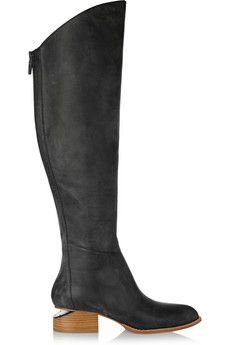 Alexander Wang Sigrid lizard-effect leather over-the-knee boots | THE OUTNET