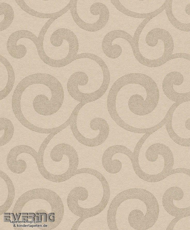 46 best Wohnzimmer-Tapeten mit eleganten Ornamenten - Amira von - tapete braun beige akzent wand wohnzimmer