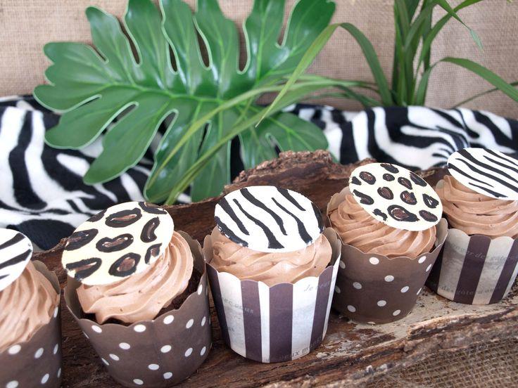 animal print cupcakes von lovely bakery. Safari Party by decorize.de