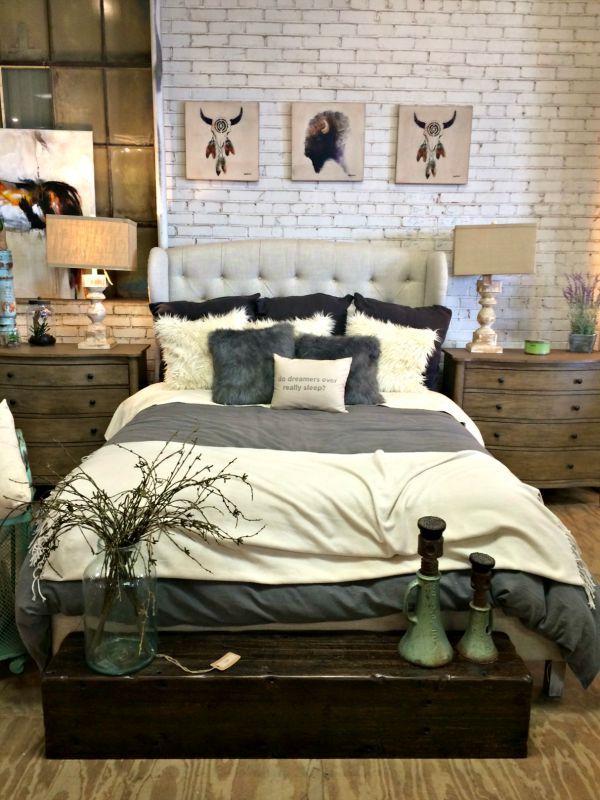 49 best bedroom images on pinterest bedrooms master for Urban farmhouse bedroom