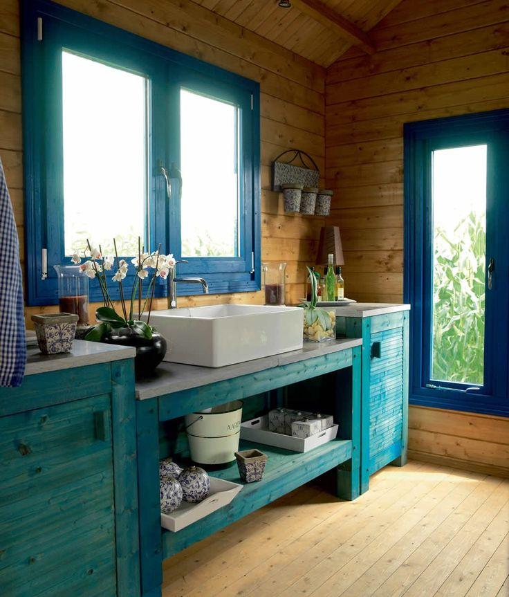 Ideaal voor je schoonheidssalon of nagelstudio! Blokhut / tuinhuis met zadeldak model Geneve 620 x 320 cm / 44 mm van Lugarde