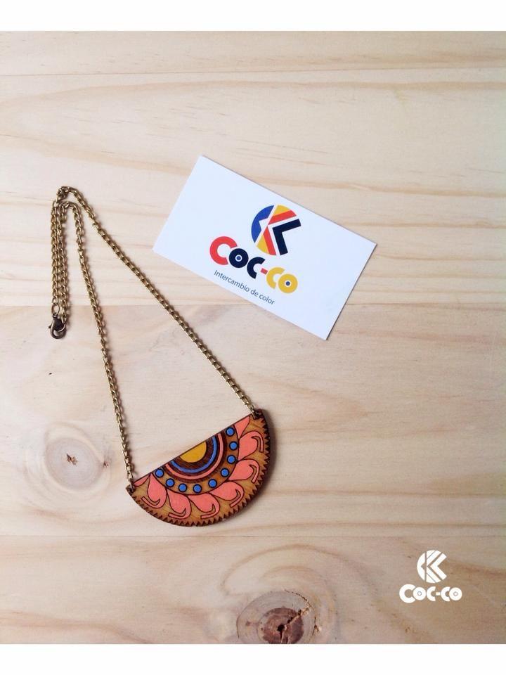 Collar Preco #trendy #cute #fashion #necklace #accesorios #moda #accessories #ring #color #madera #wood #precolombino #preco #cocco #coccocolor #collar