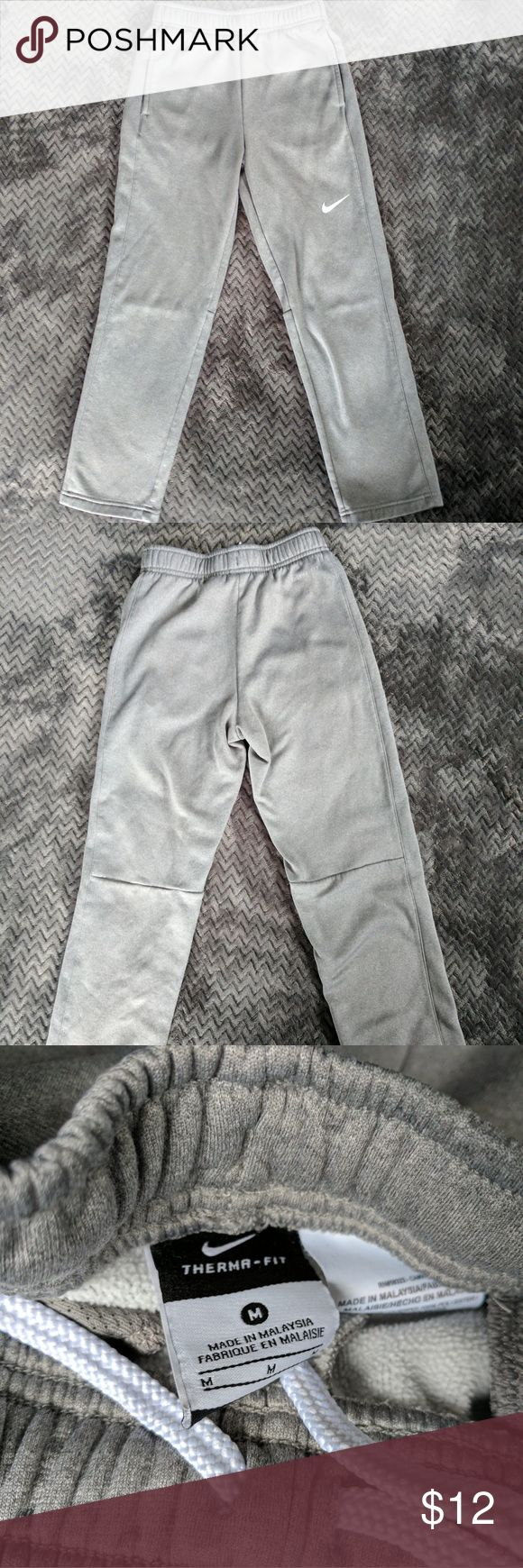 Nike Therma Fit Athletic Pants Boys Medium These Heather gray athletic pants are in excellent condition. Nike Bottoms Sweatpants & Joggers