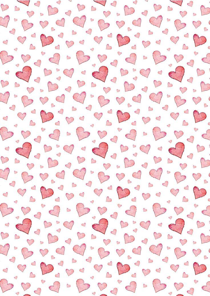 Corazones rosas pattern