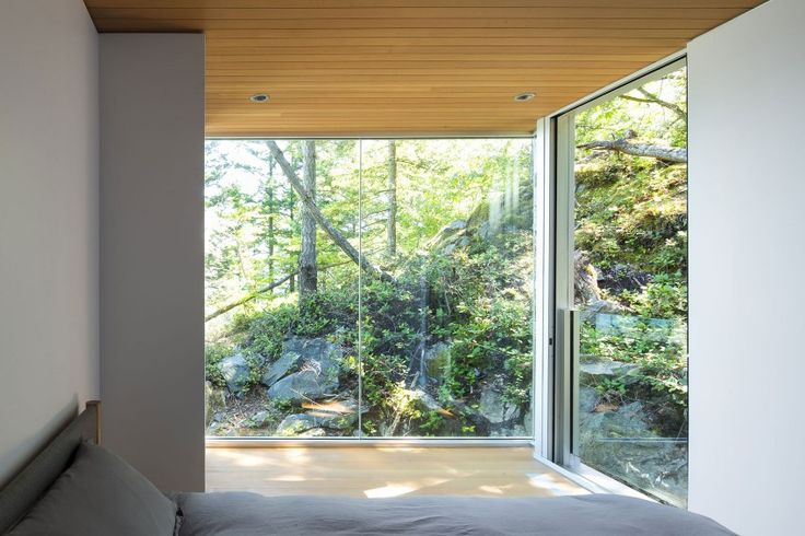 Gambier Island #House by Mcfarlane Biggar #Architects + Designers > bedroom with a spectacular view
