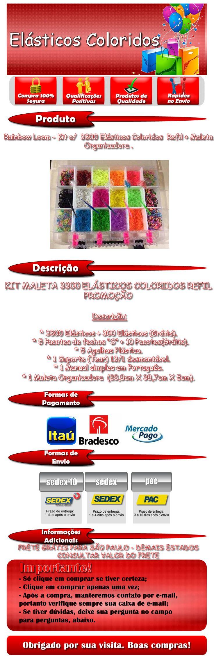 http://www.elasticoscoloridos.com.br- FABRICA DE PULSEIRAS ESTRELA PB KIDS-FABRICA DE PULSEIRAS RI HAPPY-FABRICA DE PULSEIRA ESTRELA- MAGICAL LOOM -PULSEIRAS DE ELASTICOS-PULSEIRAS GOMITAS-COMO FAZER PULSEIRAS DE ELASTICOS COLORIDOS-COMO FAZER PULSEIRA ELASTICO PASSO A PASSO-COMO FAZER PULSEIRA DE ELASTICO ESCAMA DE DRAGAO-FABRICA DE PULSEIRA FAZ DE VERDADE ESTRELA-AGULHA INOX PARA FAZER PULSEIRA ELASTICO- https://www.facebook.com/pages/El%C3%A1sticos-Coloridos/844302925622086-