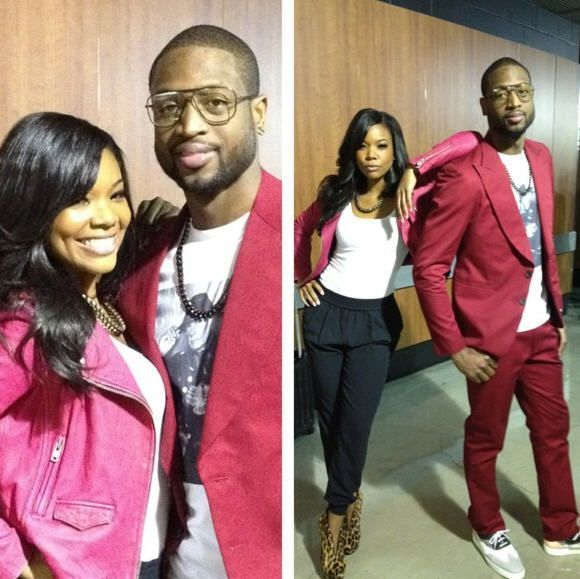 dwayne wade and wife gabrielle union] cute hubby and wife #brianatwoodinstagram #brianatwood2017