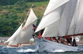 2013 Fife Regatta 29thJune -5th July.  Opportunity to watch some of the world's most beautiful yachts - view from the shores of Cowal.
