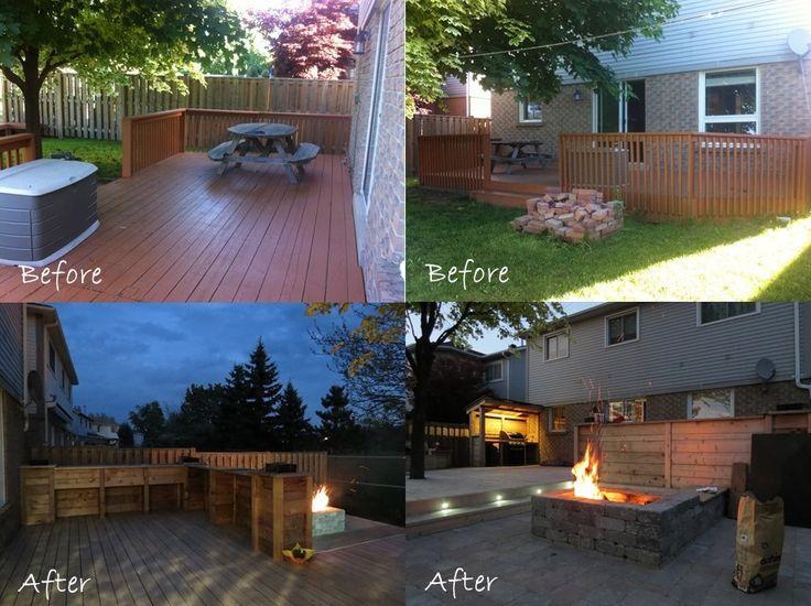 www.contractingbyus.com #beforeandafter #homerenovation #homeimprovement #homeremodelling #reno  #Toronto #deck #cedar #custommade #patio #interlock #Mississauga #generalcontractor